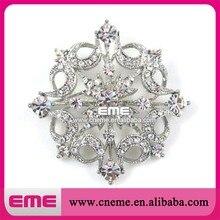 Silber Metall Charmante Kristall Strass Blume Brosche Für Schuhe/Hochzeit/Party Dekoration