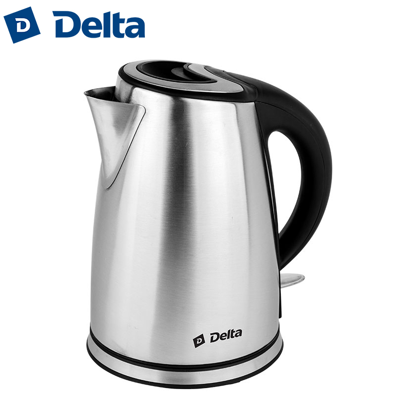 DL-1212 Electric kettle, 2200 W, 1.7 L, Housing made of stainless steel, multilevel protection, Convenience Cord storage edcgear 3 in 1 martensite stainless steel nail clipper w file hook silver