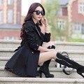 Мода весна/осень воспитать в себе мораль показать тонкие кружева пункт пальто пыли растет в большой ярдов двубортные пальто