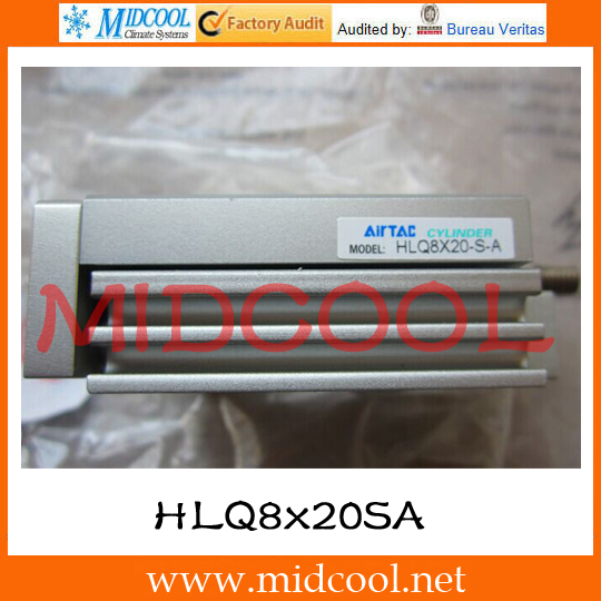Original AirTAC Compact slide cylinder(Recirculating linear ball bearing) HLQ Series HLQ8x20SA compact
