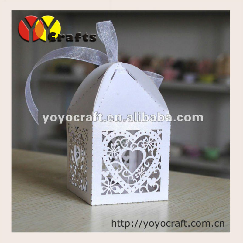 Laser Cut Free Logo Heart 50pcs Indian Wedding Favor Boxes In Gift