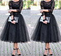 2017 Custom Made Fashion 5 Layers 70cm Long Calf Length Women Tulle Skirt Spring Style Adult Tutu Ball Gown Faldas Saias Jupe