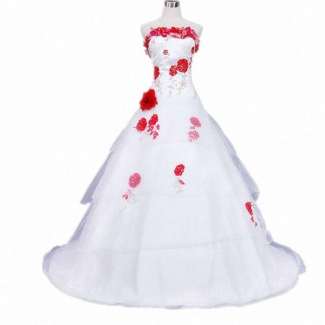 real photo vestidos de bola vestido sin tirantes de novia bordado de