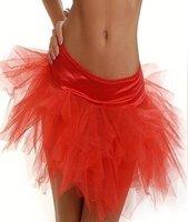 3 цветов большой s-2XL с мини-юбки взрослых лебединое органзы одежды балетная пачка юбки матч корсет бесплатная прямая поставка красный черный белый qm7008