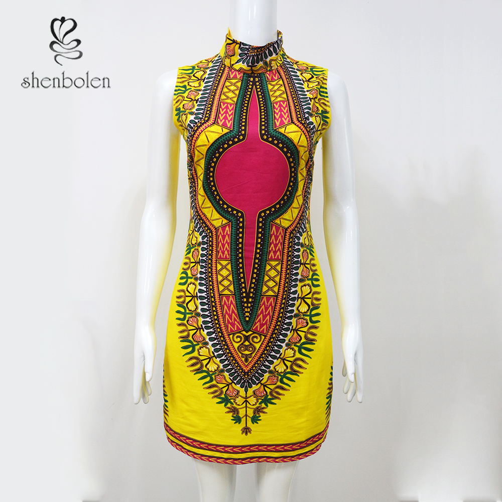 c15c7c392 2018 جديد الصيف فساتين التقليدية السيدات اللباس أفريقيا الملابس الأزياء  تصاميم الأفريقية طباعة Dashiki اللباس للنساء زائد الاحجام