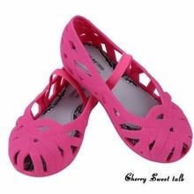 Mini Melissa jardin Filles Sandales 2017 Chaussures De Gelée Sandales Imperméables Filles Romaines Sandales Respirant Plage Chaussures Princesse Chaussures