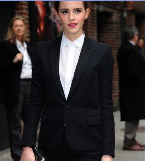 2015 Frauen Anzüge Nach Maß Schwarz Plus Größe Frauen Formale Büro Uniform Style Arbeit Anzug Dauerhafter Service