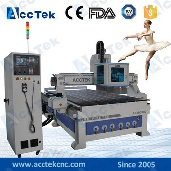 цена на ACCTEK 3d wood engraving automatic tool changer cnc carving machine with atc