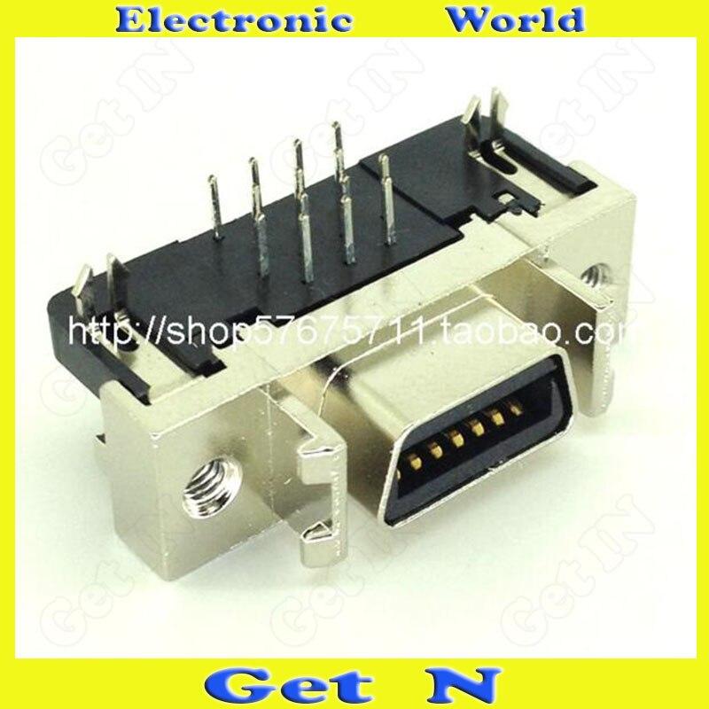 2pcs High Quality SCSI Connector MDRD Interminal HPCN14P Female 90 Degree Plug SCSI Adapter