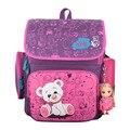 Delune Grade1-4 Ортопедические Дышащий Принцесса Начальной Школы Рюкзак для девочек Школьный Дети Рюкзак Ранец сумки с игрушкой