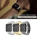 Роскошные 316L ремешок для часов ремни группа металл 42 мм Ссылка Для Apple watch браслет из нержавеющей стали 38 мм butterfly петли черного золота серебро