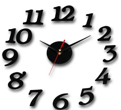 020909 Simple DIY fashion design interesting clock Creative clock acrylic  digital clock wall free shipping(