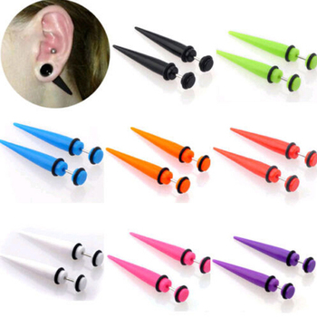 OMENG 2017 New Acrylic Ear Plug Taper Kit Gauges Expander Stretcher Stretching Piercing CC093 colar pentagrama cupula de vidro