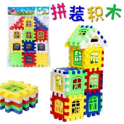 Большой Размер Строительные Блоки Кирпичный Дом Дизайнер Просветить Кирпичи С Английский Головоломки детские Ранние Развивающие Игрушки