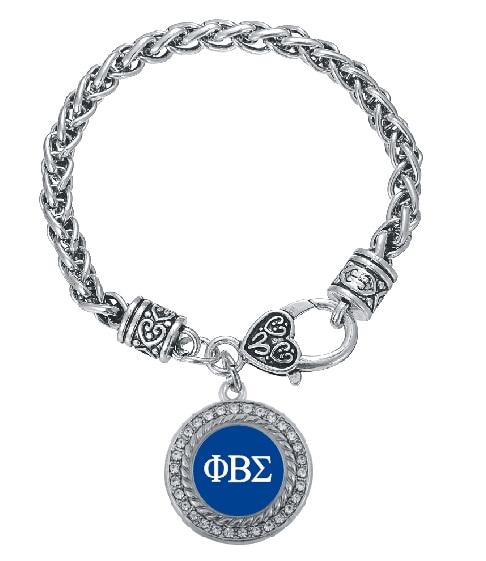 Personnalisé Phi Beta Sigma fraternité cristal cercle Bracelet en argent  bijoux Rush sœur cadeau