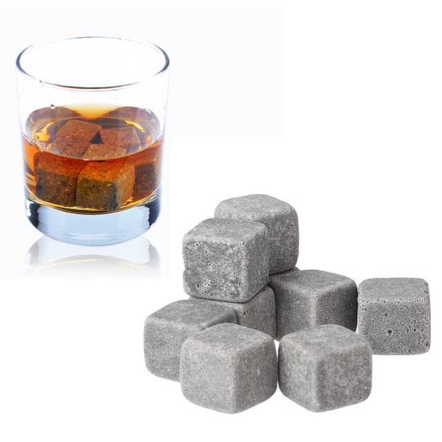 9pcs/pack Bottle Whisky Ice Stones Drinks Cooler Cubes Beer Rocks Granite vinho Pouch Wine Accessories Chopeira