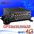 4G WIFI network car video recorder GPS car mdvr real time surveillance monitoring vehicle mobile dvr 8CH  hard disk DHL shipping
