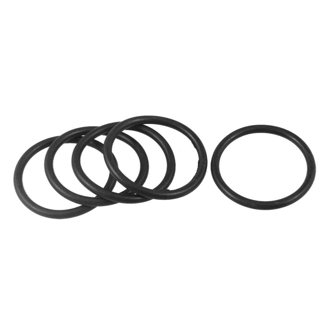 O-Rings Nitrile Rubber 3.5mm x 6.5mm x 1.5mm Seal Rings Sealing Gasket 50pcs