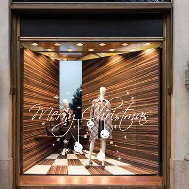 Weihnachten Glocken Fensteraufkleber Glasaufkleber Familie Schaufenster  Dekoration Pvc Entfernbare Wandaufkleber Neue Heiße