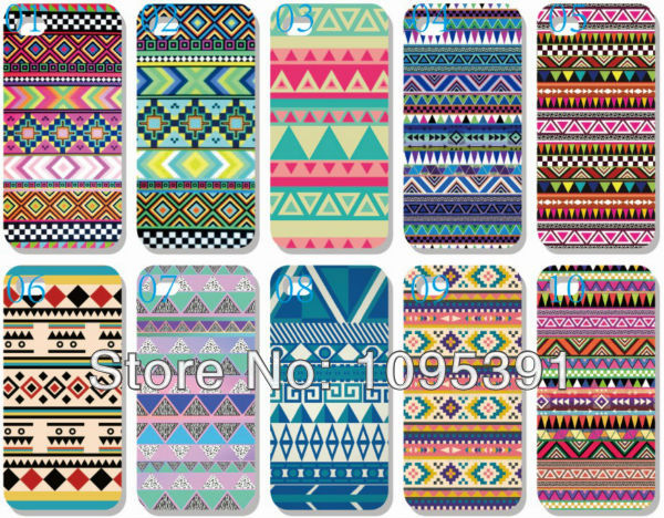 US $14 9 |Aztec Tribal Tribe Pattern Cell Phones Cases Hard Plastic  Painting Cover Back For Apple iphone 5 5S 5th Free gift+Free shipping on