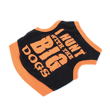 Black Doggie Clothes Vest T-shirt