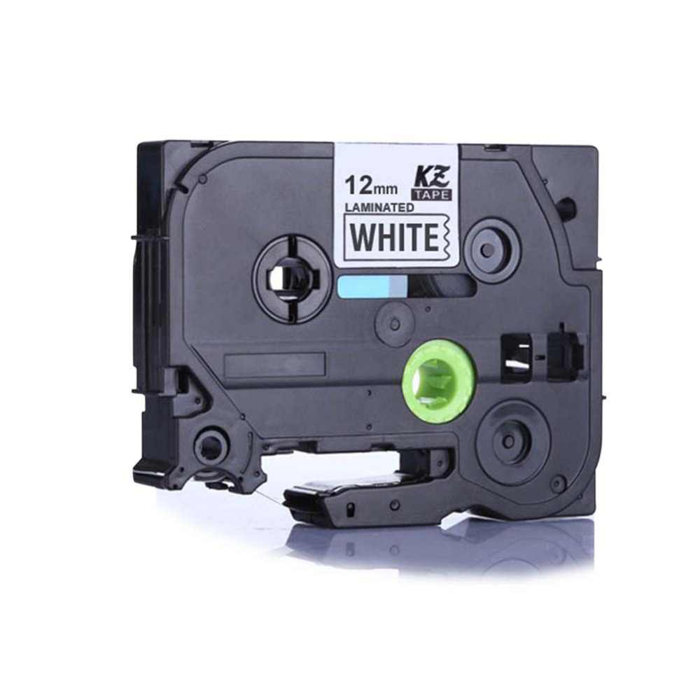 white very strong for Brother P-Touch PTE300 1x Ribbon Cassette 12mm black