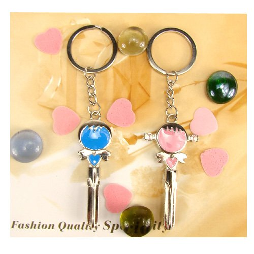 Romantic Boy And Girl Lover Keychain Birthday Gift 24 Pairs Assorted Style