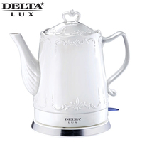 DL 1236 Electric ceramic kettle, 1.5L, 1500W, teapot anti dry protect overheat protect safety auto off function DELTA