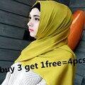 32 colores de la mujer de satén de seda bufanda chal niñas hijab musulmán tapas turbante islámico cubrirse la cabeza CQ 6606