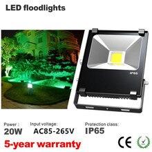 Светодиодный прожектор 20 Вт черные водонепроницаемые IP65 Прожектор Наружное освещение AC85-265V
