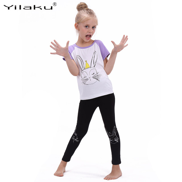 0e8b9bc699ac Online Shop Yilaku Girls Cartoon Suit Children Clothing Set Short ...
