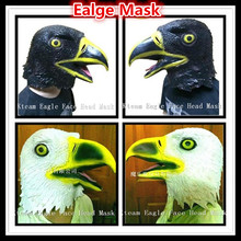 New Halloween Party Masquerade Masks Eagle Mask Latex Animal Costume Prop Halloween Animal Eagle Head Mask Free Shipping
