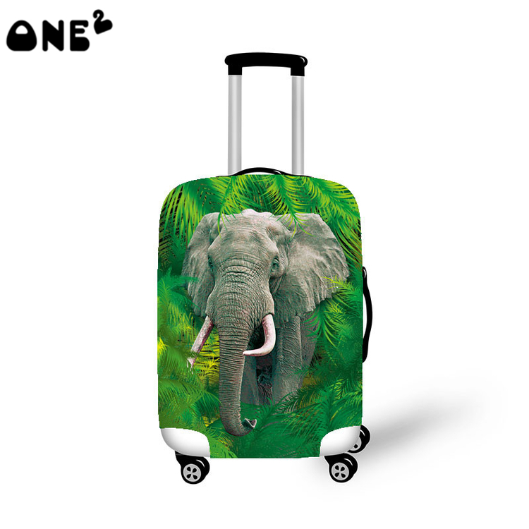 2016ONE2 Design fashion travel luggage cover travel bag cover animal pattern for suitcase boys good quality