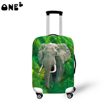 2016ONE2 Design fashion travel luggage cover travel bag cover animal pattern for suitcase boys good quality 22,24,26 inch