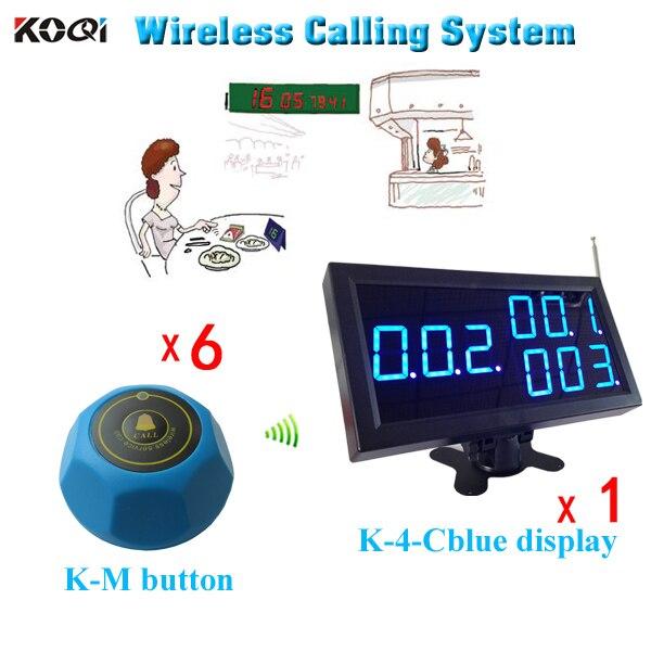 Hastane Acil Çağrı Sistemi K 4 CBlue Ekran + K m Mavi Elektronik Çan Garson Çağrı Buzzer Çağrı Cih. Cep telefonları ve Telekomünikasyon Ürünleri -