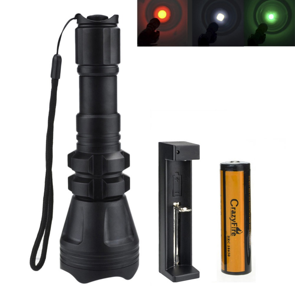 3000 Lumen Zoomable Tactical Flashlight Cree XML L2 Torch Waterproof 500M LED Flashlight Rechargeable 18650 Battery+Charger fenix hp25r 1000 lumen headlamp rechargeable led flashlight