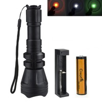 3000 Lumen Zoomable Tactical Flashlight Cree XML L2 Torch Waterproof 500M LED Flashlight Rechargeable 18650 Battery+Charger