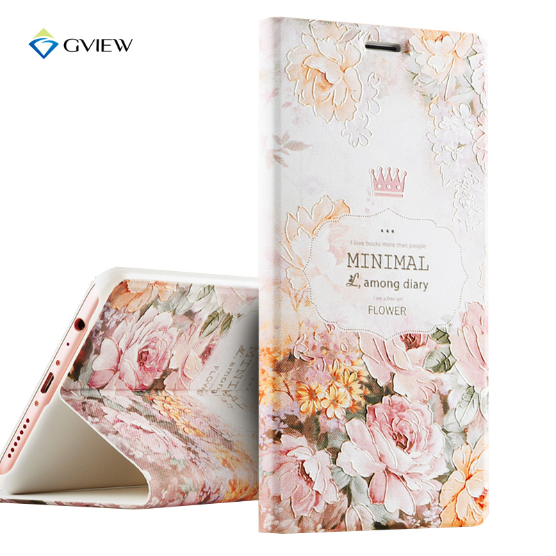 Luxury New Arrivals PU Leather 3D Relief Printing Stereo Feeling Flip Cover Case For OPPO R9