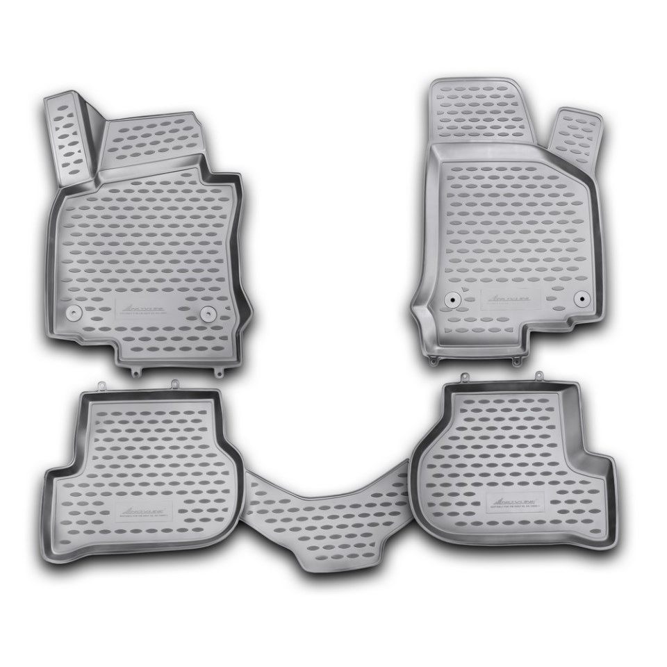 New 3d Floor mats for Volkswagen Golf VI 2009 2010 2011 2012 Delivery from Russia Stock Free Shipping