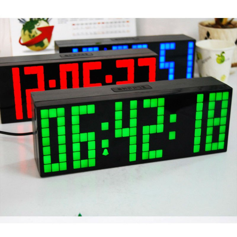 Free shipping manufacturer digital clock large big jumbo led snooze product parameter aloadofball Image collections
