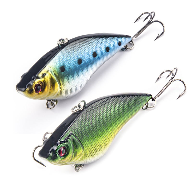 2PCS / LOT Fiske Lure 7cm 16g Wobbler Fishing Lures Långsam flytande Rocker Lifelike VIB Lure Kit Sinking Bait