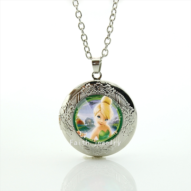 Hot sale fashion cute Tinkerbell necklace accessories s