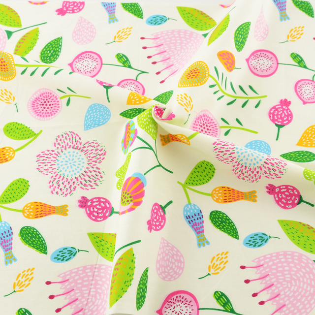 50cmx160cmpiece Printed Floral Pattern Cotton Fabric Tilda For Baby