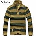 НЯНЬ ДЖИП 2016 мужская повседневная марка зима теплая хорошее качество 100% хлопок толстые свитера человек свободные полосы вязать свитер свитера