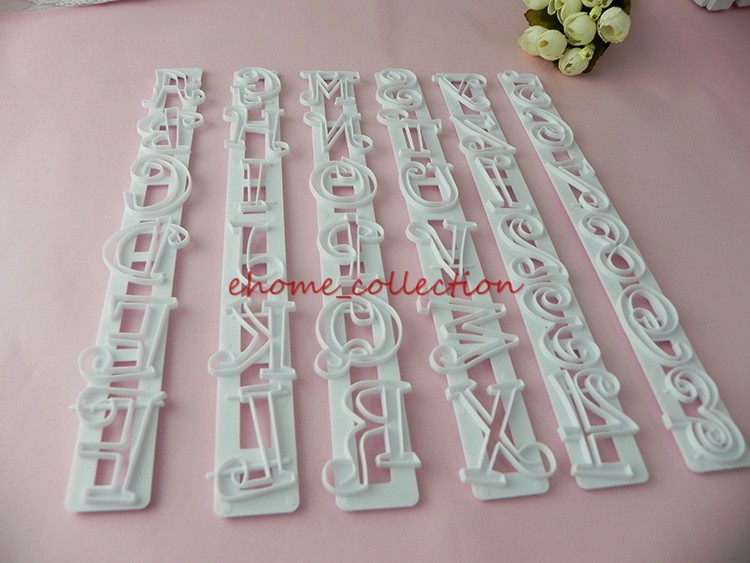 6pcsset lettersnumbers shape cake embossing cutter cookie chocolate fondant diy decorating stencil tools