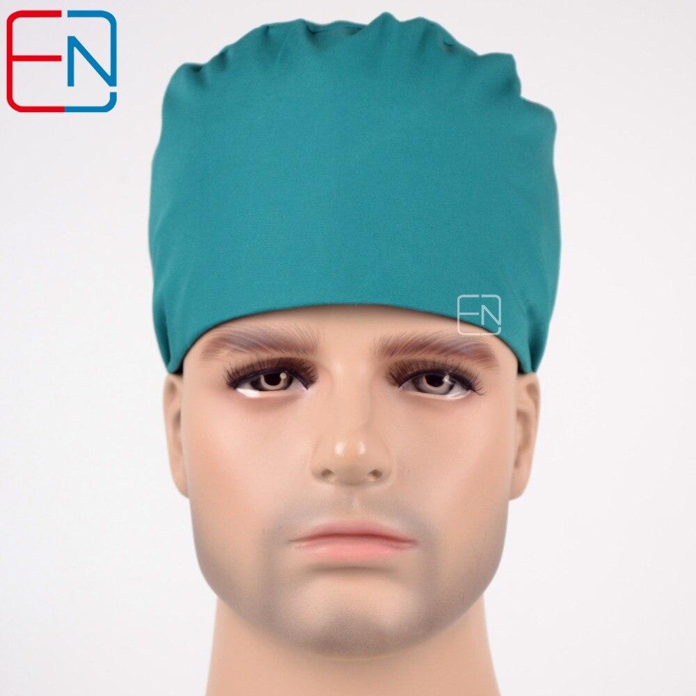 Октября Новая мужская хирургическая Шапки 100% хлопок с Sweatbands синий современные 03 ...