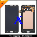 Shipping + Tracking No. 100% prueba Orignal para Samsung Galaxy J7 J7008 J700 totalmente LCD digitalizador asamblea blanco / negro / oro