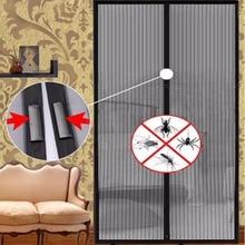 Termomagnético Anti-mosquito Cortina Home Screen Mesh Manos Libres Cortina de Puerta Magnética Anti Mosquito Net Bug