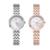 Mulheres De Aço Inoxidável Relógios KEZZI Mother Of Pearl Dial Oco Amor Do Coração de Strass Senhoras Pulseira Relógio Relógio de Quartzo Ocasional