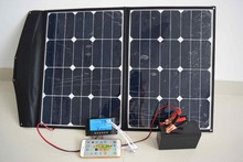 60W solar charger high efficiency flexible and portable PV solar panel